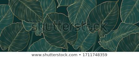 Blauw bloemen groene bladeren illustratie witte groene Stockfoto © bluering