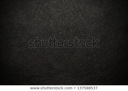 Black leather wallpaper, background Stock photo © berczy04