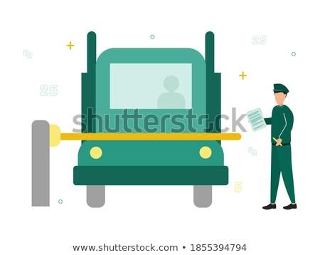 車 · パッケージ · ポスト · ベクトル · 白地 - ストックフォト © bluering