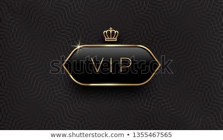 Golden VIP card, vector illustration Stock photo © carodi