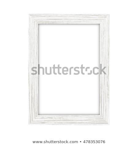 Madeira quadro branco ouro antigo quadro de imagem Foto stock © goir