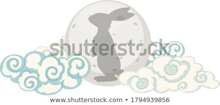 Round bunny vector illustration clip-art image Stock photo © vectorworks51