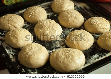 Cookies with Sesame on Baking Tray Stock photo © dariazu
