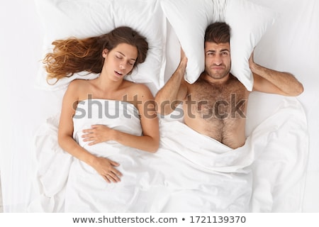 two adult people in bedroom posing stock photo © konradbak