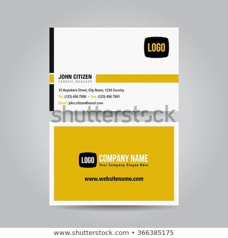 yellow black modern business card template vector design illustr stock photo © sarts