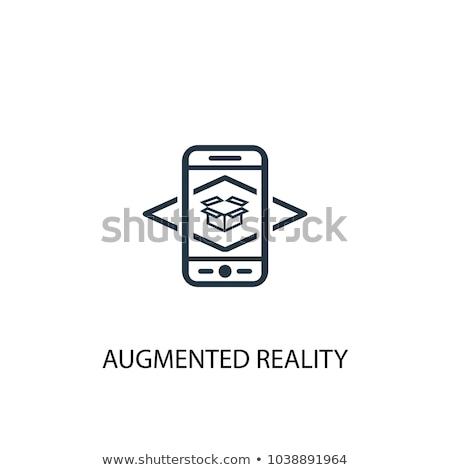 Augmented reality vector illustration. Stock photo © RAStudio