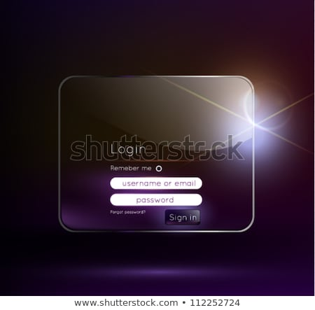 shiny login user interface design for website and application Stock photo © SArts