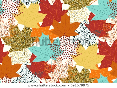 осень клен листьев бесшовный вектора падение Сток-фото © Vertyr