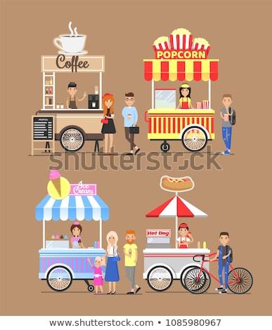 уличной еды покупатель изолированный человека Hot Dog случайный Сток-фото © robuart