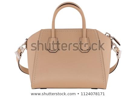 pénztárca · érmék · izolált · fehér · bank · bőr - stock fotó © iserg