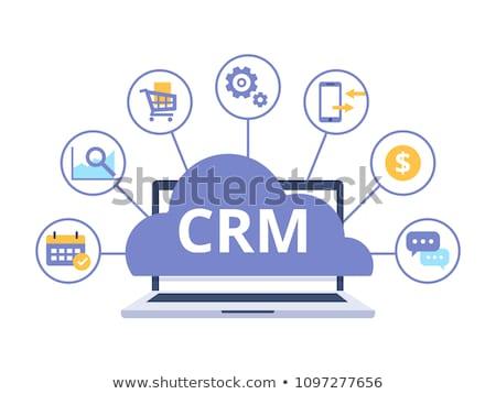 Online crm ikon terv üzlet pénzügy Stock fotó © WaD