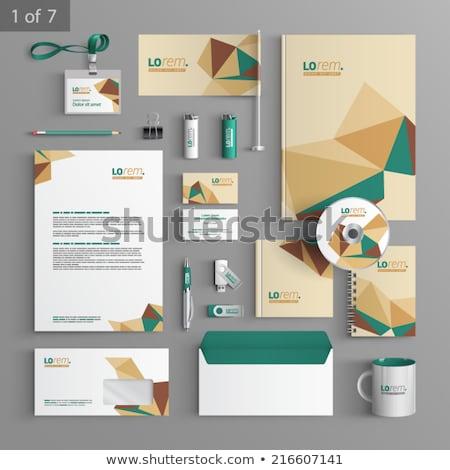 Streszczenie działalności materiały biurowe korporacyjnych tożsamości szablon Zdjęcia stock © SArts