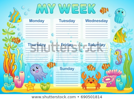Weekly school timetable design 1 Stock photo © clairev