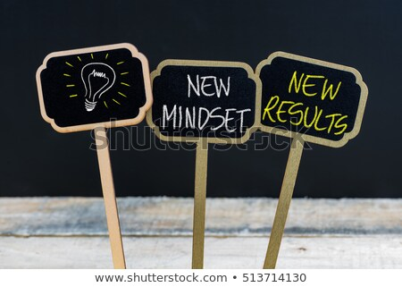 New Mindset for New Results on a Chalkboard. Stock photo © tashatuvango