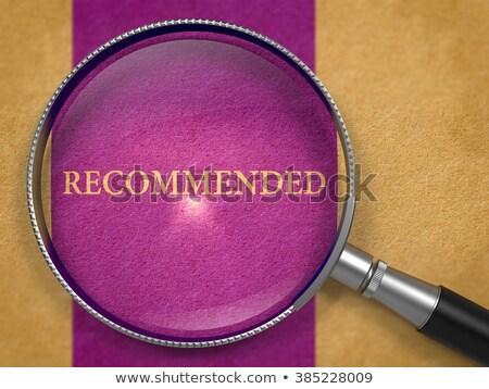 top · kwaliteit · product · aanbeveling · teken - stockfoto © tashatuvango