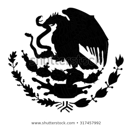 icons of the flag and the coat of arms of mexico stock photo © olena