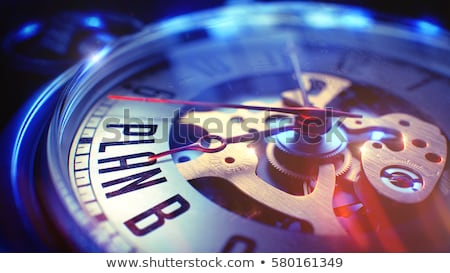 time to plan   red text on the watch face 3d illustration stock photo © tashatuvango