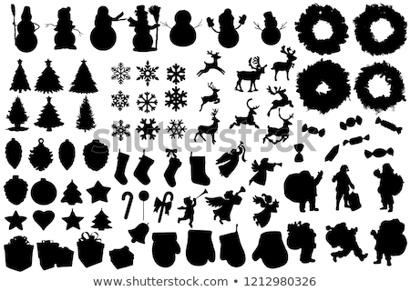 работает · оленей · иллюстрация · Рождества · северный · олень · икона - Сток-фото © olena