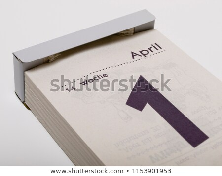 Stock photo: 1 April Fools Day. Tear-off calendar sheet