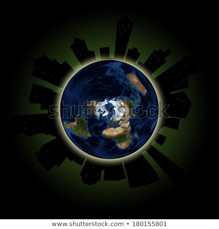 silhouette icon earth hour stock photo © olena
