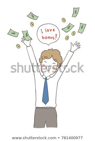Stockfoto: Bonus · doodle · Rood · woord · business · opschrift