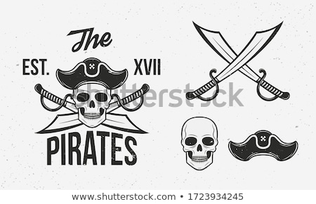 sabers crossed pirate sword sign isolated vector illustration stock photo © popaukropa