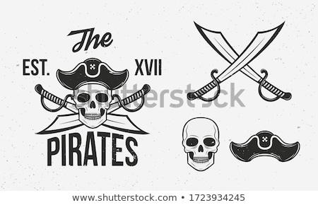 Stok fotoğraf: Korsan · kılıç · imzalamak · yalıtılmış · el · dizayn
