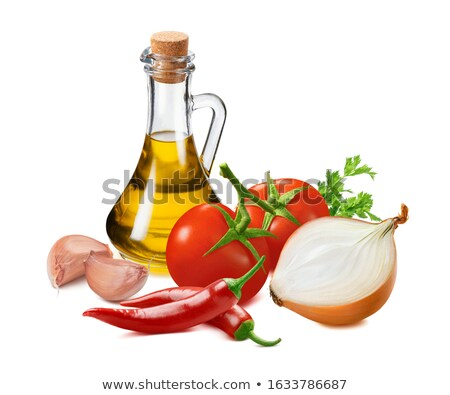 red tomatoe and hot pepper stock photo © digitalr