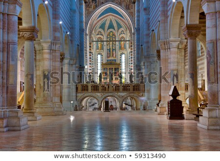 Interior of San Zeno Stock photo © backyardproductions