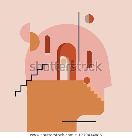 Kafa labirent kişilik içinde tıp psikoloji Stok fotoğraf © studiostoks