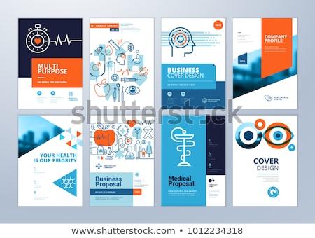 Ayarlamak tıbbi posterler sağlık vektör tıp Stok fotoğraf © Leo_Edition