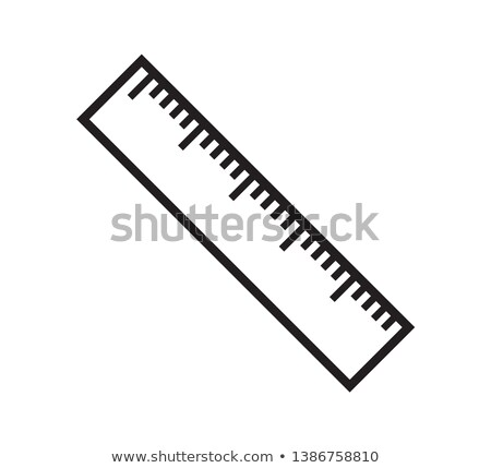 Foto stock: Ruler Icon Flat Cartoon Style Isolated On White Background Vector Illustration
