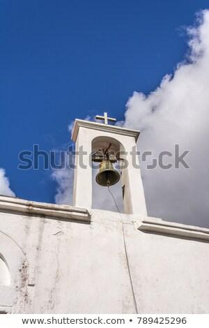 harang · torony · falu · Görögország · épület · templom - stock fotó © ankarb