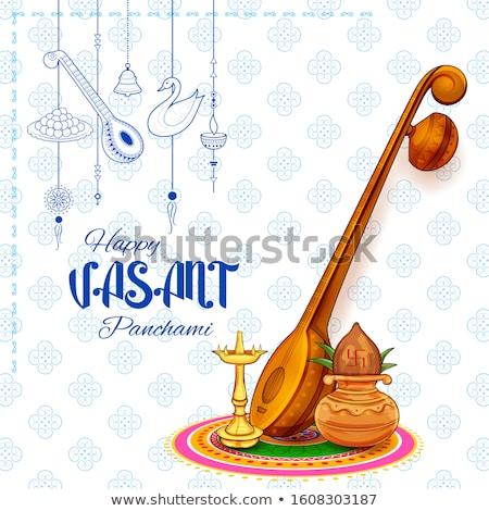Diosa sabiduría India festival ilustración arte Foto stock © vectomart