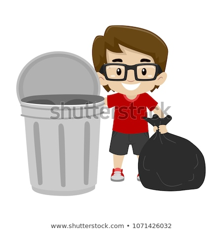 young man with a garbage bag Stock photo © nito