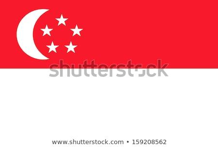 Сингапур флаг белый сердце дизайна знак Сток-фото © butenkow
