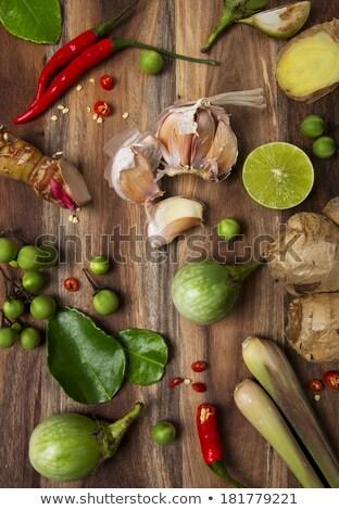 Ingrediente greggio cuoco foglie fresche Foto d'archivio © kenishirotie