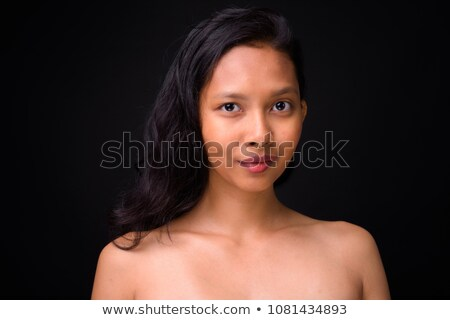 Beauté portrait belle torse nu femme court Photo stock © deandrobot