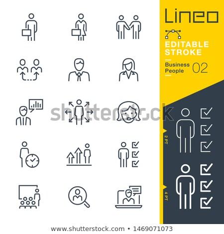 employee search icon Stock photo © kraska