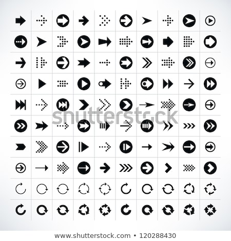 Jugar signo vector web elemento circular Foto stock © rizwanali3d