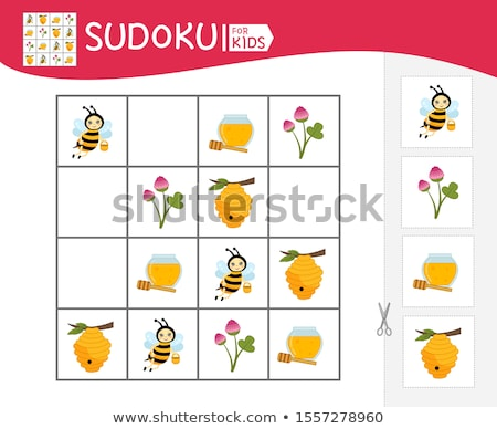 sudoku kids game insects stock photo © olena