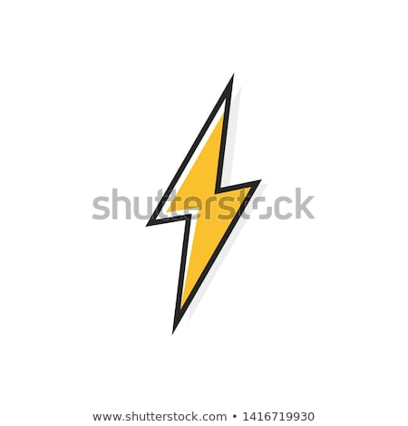 icons of thunder lighting stock photo © ratkom