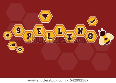 Yazım arı altıgen matbaacılık örnek Stok fotoğraf © lenm