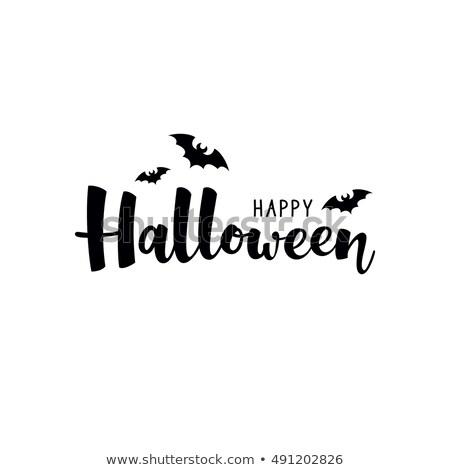 Halloween strony piśmie kaligrafia tekst kartkę z życzeniami Zdjęcia stock © orensila