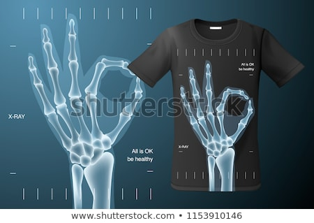 All is Ok sign, X-ray of human hand, t-shirt design, modern print use for sweatshirts, souvenirs and Stock photo © ikopylov