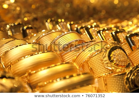 Gold Jewelry Background Soft Selective Focus Photo stock © Taiga