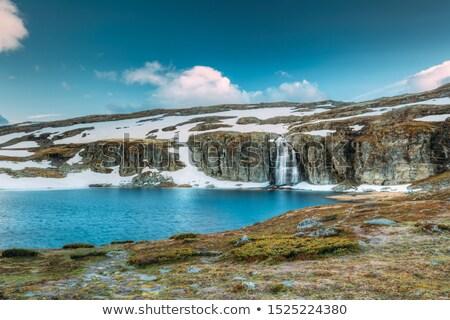 Lake in Norwegian scenic route Aurlandsfjellet Stock photo © Kotenko
