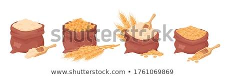 Búza zsák illusztráció barna táska tele Stock fotó © lenm