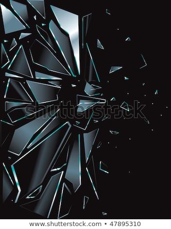 Ablak törött üveg illusztráció háttér bútor fehér Stock fotó © colematt