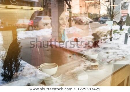 2 画像 ソーシャルメディア コーヒーショップ ストックフォト © Kzenon